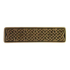 Jewel 3 Inch Center to Center Antique Brass Cabinet Pull <small>(#NHP-657-AB)</small>