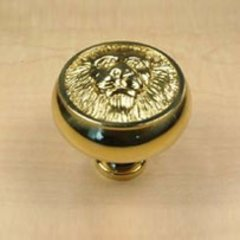 Roman 1-1/2 Inch Diameter Polished Brass Cabinet Knob