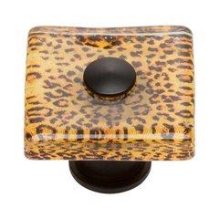 Cheetah 1-1/2 Inch Diameter Matte Black Cabinet Knob