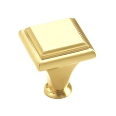 "Manor Knob 1"" Dia. Brushed Brass"