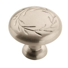 Nature's Splendor 1-1/4 Inch Diameter Satin Nickel Cabinet Knob <small>(#BP1581G10)</small>