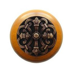 Olde World 1-1/2 Inch Diameter Antique Brass Cabinet Knob <small>(#NHW-776M-AB)</small>