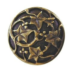 Leaves 1-1/8 Inch Diameter Antique Brass Cabinet Knob <small>(#NHK-105-AB)</small>