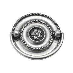 Manor House 2-1/4 Inch Center to Center Silver Stone Cabinet Bail Pull
