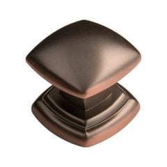 Euro-Contemporary 1-1/4 Inch Diameter Oil Rubbed Bronze Highlighted Cabinet Knob <small>(#P3181-OBH)</small>