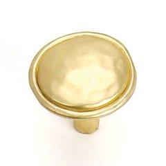 Merlot 1-3/8 Inch Diameter Satin Brass Cabinet Knob <small>(#37404)</small>