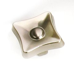 Flair 1-1/4 Inch Diameter Satin Nickel Cabinet Knob <small>(#38628)</small>