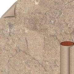 Mocha Travertine Matte Finish 5 ft. x 12 ft. Countertop Grade Laminate Sheet