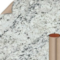 White Ice Granite Matte Finish 5 ft. x 12 ft. Countertop Grade Laminate Sheet
