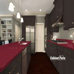 Formica New Burgundy Matte Finish 4 ft. x 8 ft. Countertop Grade Laminate Sheet 7966-58-12-48X096