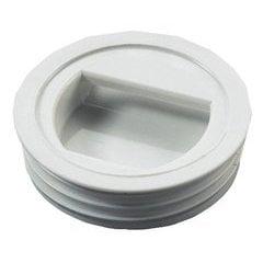 Push Hinge Catch Recessed - Plastic Black