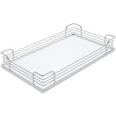 Arena Plus Tray 11-5/8 inch Chrome/White