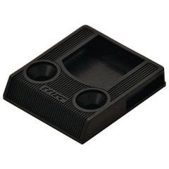 Push Catch Surface Mount Without Lip - Plastic Black