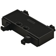 Double Push Latch with Adjustment - Plastic Black