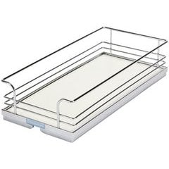 Pull-Out Tray Organizer 18-7/8X20 5/8X4-5/16 - Chrome/White