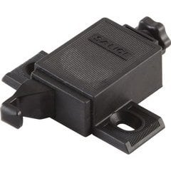 Push Hinge Adjustable Latch/Adapter - Plastic Black