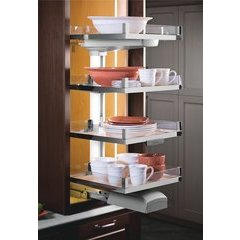 Lavido 4 Tray Organizer Set 50er / 17-11/16 Inch - Chrome/Maple