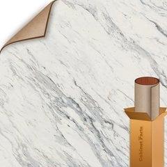 25% OFF Calcutta Marble Textured Gloss Finish 5 ft. x 12 ft. Countertop Grade Laminate Sheet