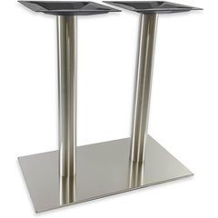 16 inch x 28 inch Rectangular Table Base - Stainless Steel 28-5/8 inch H