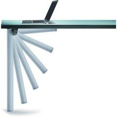 """Click Foldable Leg Set Alumina 27-3/4""""H"""