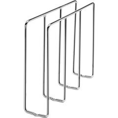 """30% OFF 3 Inch Width U-Shaped Tray Divider for Kitchen Base Cabinet or Uppers - Chrome, Min. Cabinet Opening: 3-1/4"""" W x 12"""" D x 10-1/4"""" H"""