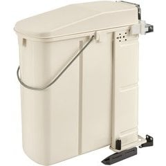 "24% OFF 20 Liter Single Rectangular Pivot-Out Polymer Waste Bin, Min. Cabinet Opening: 16-1/4"" Wide - Silver"