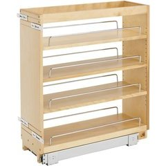 """33% OFF 8 Inch Width Wood Pull-Out Organizer with Adjustable Shelves for Kitchen Base Cabinet - Natural, Min. Cabinet Opening: 8-1/2"""" W x 22-1/2"""" D x 25-5/8"""" H"""
