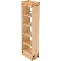 6 x 39 Inch Pull - Out Between Cabinet Wall Filler - Natural Wood