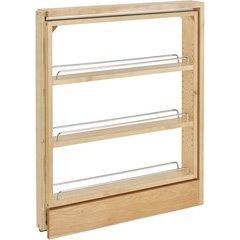 3 Inch Base Cabinet Organizer - Maple
