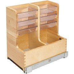 30 Inch Vanity Sink Base Storage Organizer - Maple