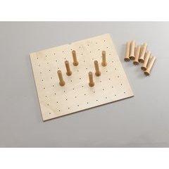 Small 24 x 21 Inch Peg Board - Natural Wood