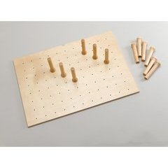 Medium 30 x 21 Inch Peg Board - Natural Wood