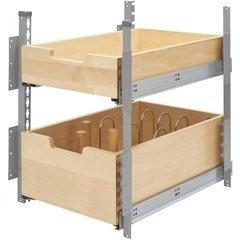 15 Inch Pilaster System 2 Drawer Kit - Natural Wood