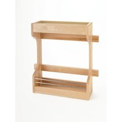 Door Mount Sink Base Organizer - Natural Wood