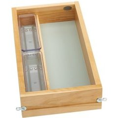 10.5 Inch Vanity Single Drawer with Soft Close Slides - Natural Wood