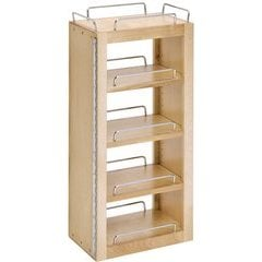 25 Inch Swing Out Pantry - Natural Wood
