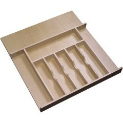 20.625 Inch Width Tall Cutlery Tray Insert - Natural Wood
