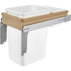 35 Quart Single Top Mount Waste Container for 1 - 5/8 Inch Face Frame - White