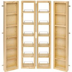 57 Inch Swing Out Pantry Kit - Natural Wood