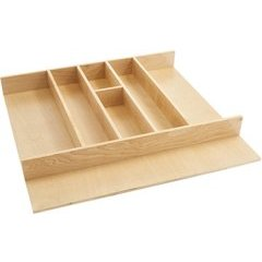 24 Inch Tall Utility Tray Insert - Natural Wood