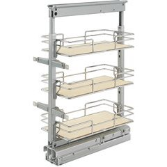 9 Inch Soft Close Short Pullout Maple Pantry