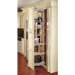 9 Inch Soft Close Tall Pullout Maple Pantry