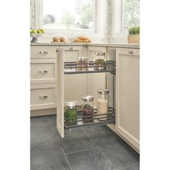 7.25 Inch Two-Tier Wire Organizer with Blum Soft Close - Gray