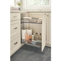 10.25 Inch Two-Tier Wire Organizer with Blum Soft Close - Gray