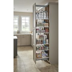8 Inch Width x 58.25 Inch Height Soft Close Solid Bottom Pantry Pullout - Maple