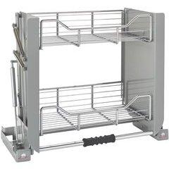 24 Inch Pull Down Shelf - Chrome