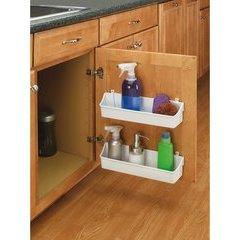8 Inch Door Storage Bins Set (2 Trays) - Almond