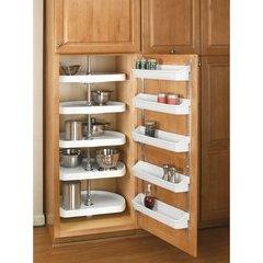 8 Inch Door Storage Bins Set (5 Trays) - Almond