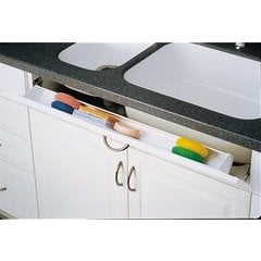 36 Inch Polymer Tip-Out Tray (1 HInge) - White