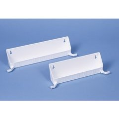 14 Inch Tip-Out Trays with Tab Stops - White
